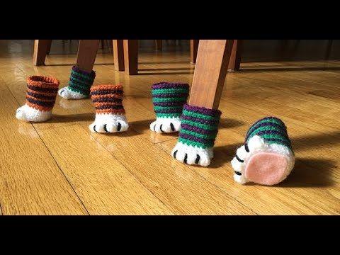 Gorgeous Crochet Chair Socks In 2020 Chair Socks Chair Socks Pattern Crochet Projects