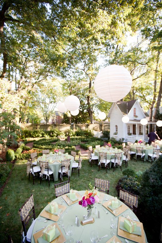 Gardens Receptions And Backyard Wedding Receptions On Pinterest