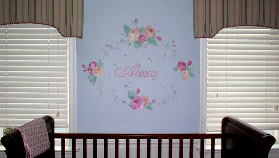 Nursery that grows with the bed! Personalized with a name and a garland. www.loulouswhimsicals.com