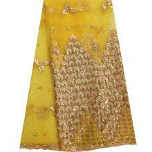 Neueste Afrikanischen Pailletten Schnürsenkel 2016 Hochwertige Afrikanische Spitze Stoff Für Hochzeitskleid Tuch Nigerianischen Stoffe(China (Mainland))