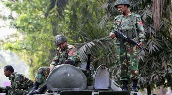 Mortar shell explosion kills five Bangladesh soldiers