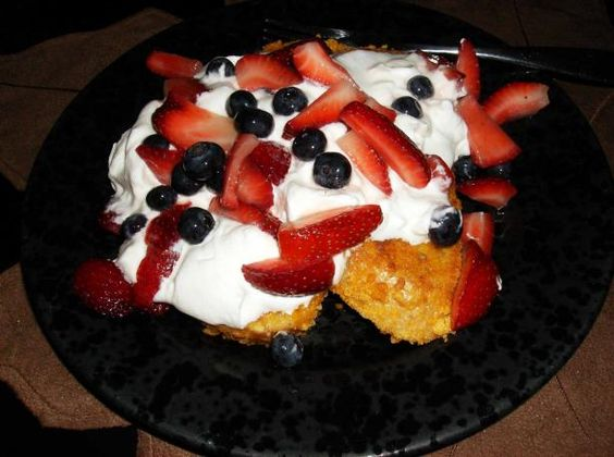 Cap'n Crunch French Toast from Food.com: Based on a recipe from Guy Fieri's book, Diners, Drive-ins and Dives: an All-American Road Trip…With Recipes! This celebrates the Blue Moon Café in Baltimore, Maryland. This is absolutely wonderful. My friend Eric, who loaned me this cookbook, slices the berries the night before and coats them with maple sugar and marinates them in the 'fridge overnight -- this makes them quite succulent by morning!