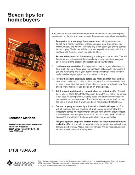 Seven Tips For Homebuyers  Real Estate Tips And Tricks  Home