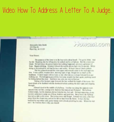 Proper Way To Write A Letter To A Judge from i.pinimg.com