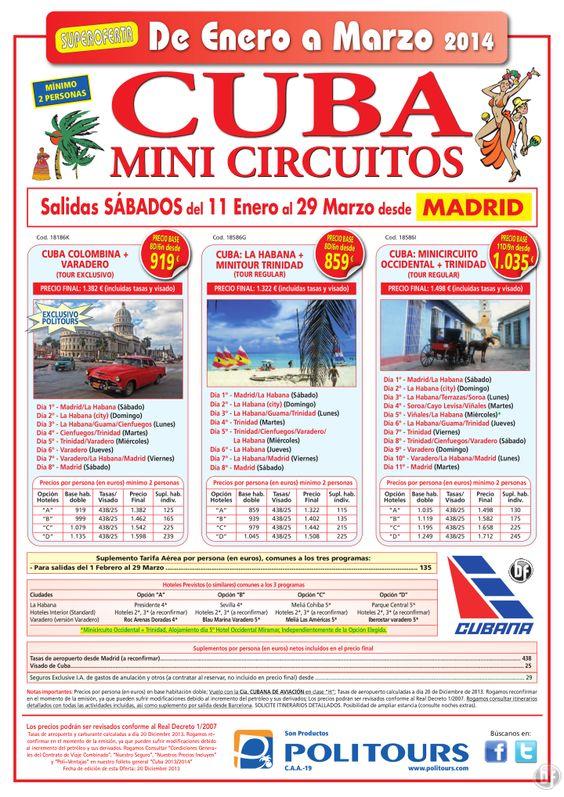 CUBA : La Habana + Minitour Trinidad, sal. del 25/01 al 29/03/14 desde Madrid (8d/6n) desde 859€ ultimo minuto - http://zocotours.com/cuba-la-habana-minitour-trinidad-sal-del-2501-al-290314-desde-madrid-8d6n-desde-859e-ultimo-minuto/