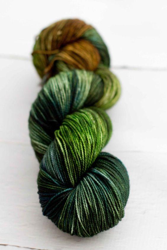 Merino Nylon Sock Yarn  Marsh Series by westernskyknits