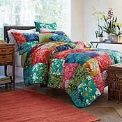 Cypress Quilt -- love the colors and bold print