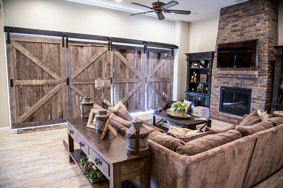Quadruple sliding barn doors sliding barn doors the o 39 jays and for the for Overlapping interior barn doors