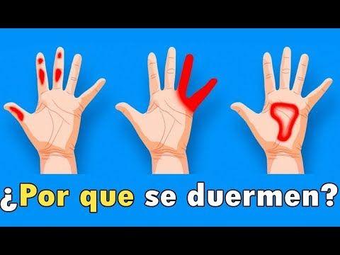 por que se duermen los dedos de las manos