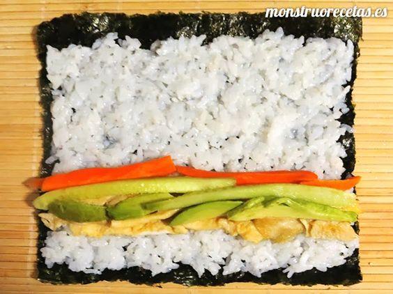 Cómo hacer sushi. Combinaciones de ingredientes y diferentes variantes como Sushi Maki, Nigiri y California Roll. Vídeos de recetas de sushi incluidos.