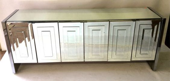 Sold Ello Mirrored Console Mirror Cabinet Credenza Vintage