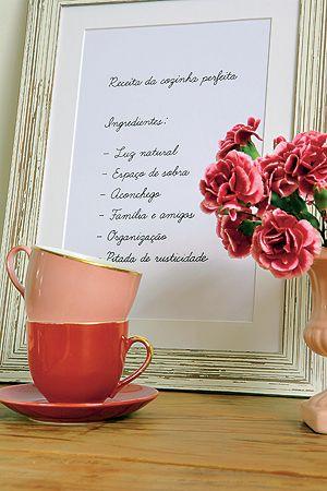 Querido Refúgio - Decoração: Cozinha fofa: mania cor-de-rosa e decoração vintage /retrô