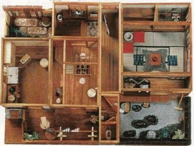 dollhouse miniature Japanese house