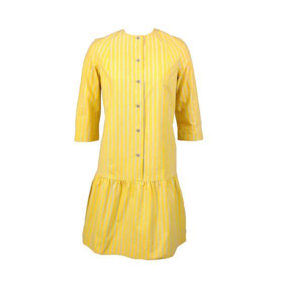 24-10-11 Vintage Marimekko dress. 1960's. Piccolo pattern. The fabric pattern dates to 1953 and the dress pattern dates to 1957. Designed by Vuokko Nurmesniemi. *Nurmesniemi started her own line, Vuokko, after she left Marimekko.
