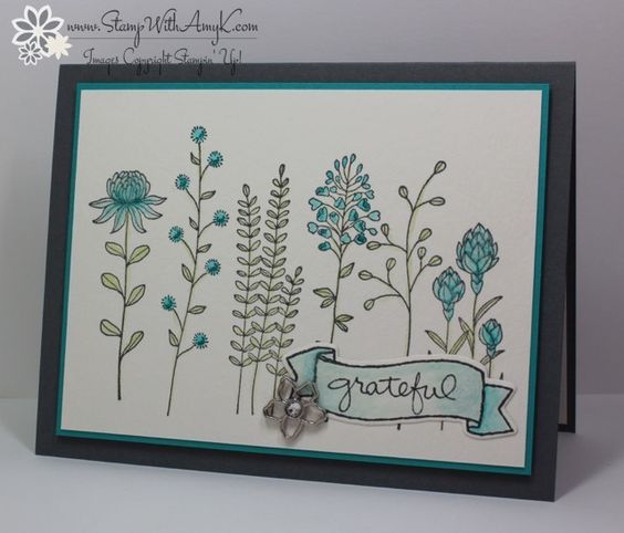Today I'm sharing a sneak peek at an upcoming stamp set from the 2016 Stampin' Up! Sale-a-bration brochure.  I used the Flowering Fields stamp set to create my card for the Sunday Stamps SSC115 col...: