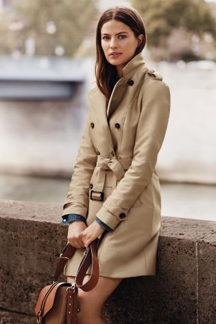 Buy Navy Wool Trench Coat online today at Next: United States of