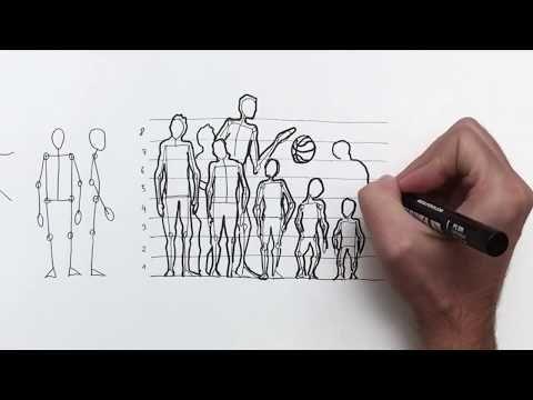 Como Dibujar Una Persona Bien Proporcionada Canon Edad Y Compostura Youtube Como Dibujar Personas Como Dibujar Cuerpo Humano