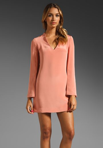 ELIZABETH AND JAMES Brigitte Dress in Apricot at Revolve Clothing - Free Shipping!