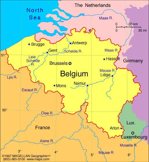 Map of Belgium Capital Brussels Languages Dutch Flemish 60 – Map of Belgium with Cities