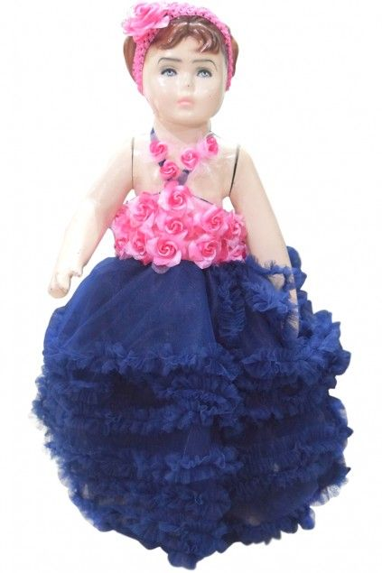 Pink and Blue Floral Birthday Dress for Baby Girl Designer ...