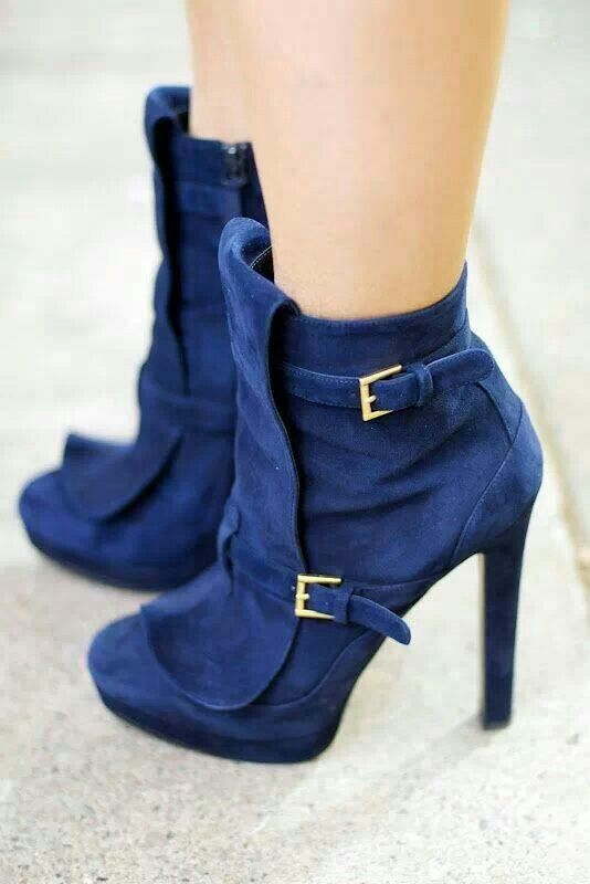 These are da bomb sexy blue booties!   S. Kay shoes & boots ...