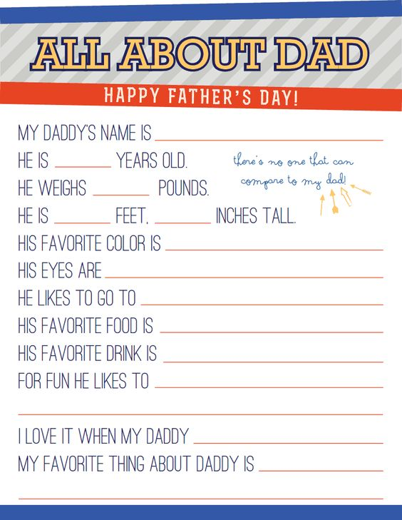 father's day folded shirt card