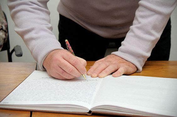 A assinatura do tombamento