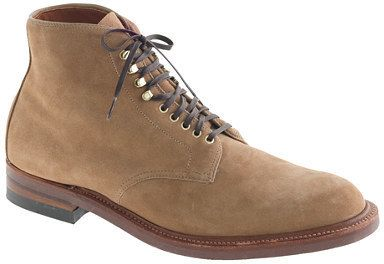 $553, Tan Suede Boots: Alden For Jcrew Boots In Camel Suede. Sold by J.Crew. Click for more info: https://lookastic.com/men/shop_items/284419/redirect