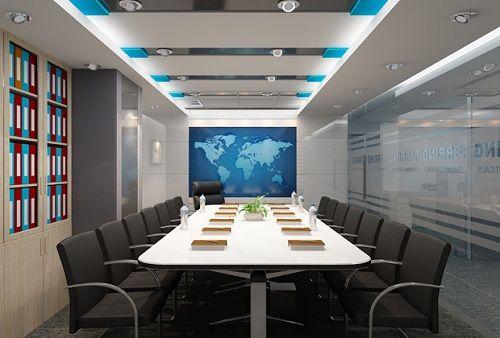 Thiết kế phòng họp sang trọng với chất liệu tuyệt vời: