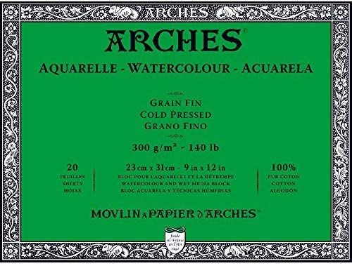 Amazon Com Arches Watercolor Paper Block Cold Press 9 X 12