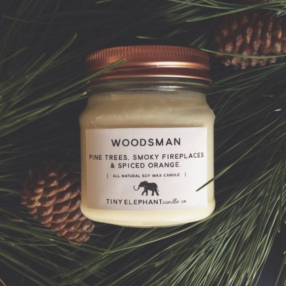 Woodsman - Christmas Soy Candle - All Natural Candle - Soy Wax Candle - Pine Candle - Fall candle - Mason Jar Candle