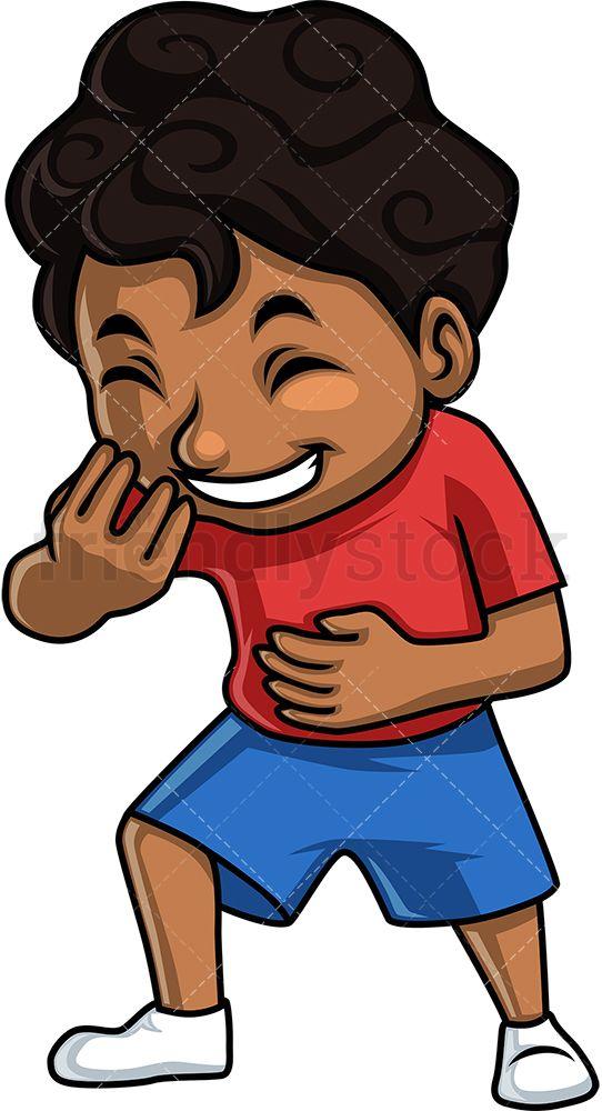 Black Boy Laughing Black Boys Cartoon Clip Art Kids Clipart