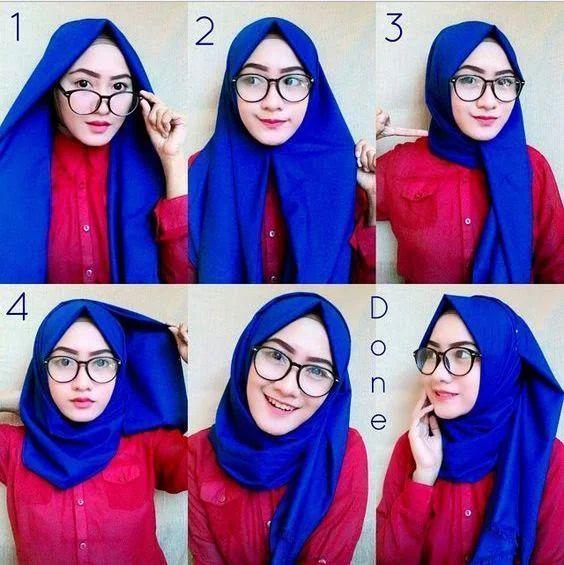 Voici Un Tutoriel Hijab Avec Les Lunettes Tres Facile A Realiser Retrouvez Mes Conseils De Styl How To Wear Hijab Hijab Style Tutorial Tutorial Hijab Segitiga