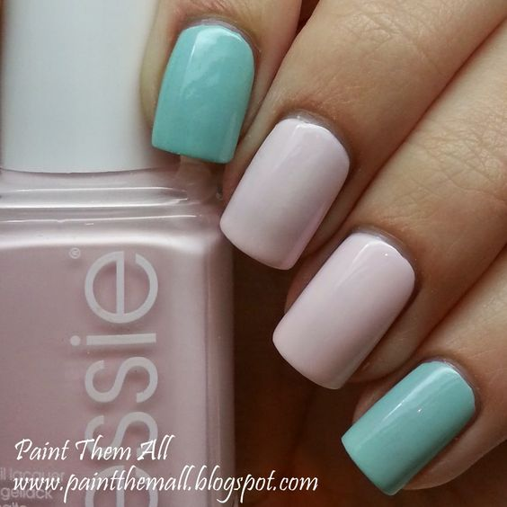 Paint Them All: Baby Pink And Mint Green   The Perfect Spring Color Combo #