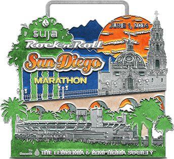 My 2014 Rock 'n' Roll San Diego Marathon Finisher Badge