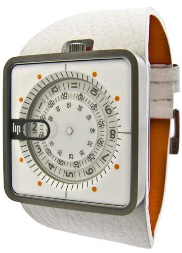 Lip Mythic Jump Hour White Watch
