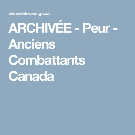 ARCHIVÉE - Peur - Anciens Combattants Canada
