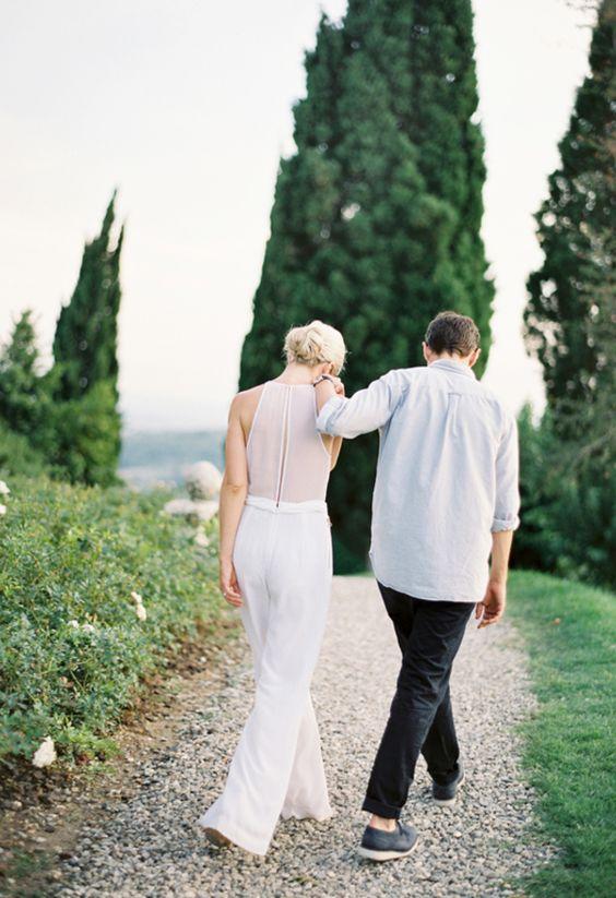 Bridal jumpsuits: elegant, stylish, refined // Jose Villa: