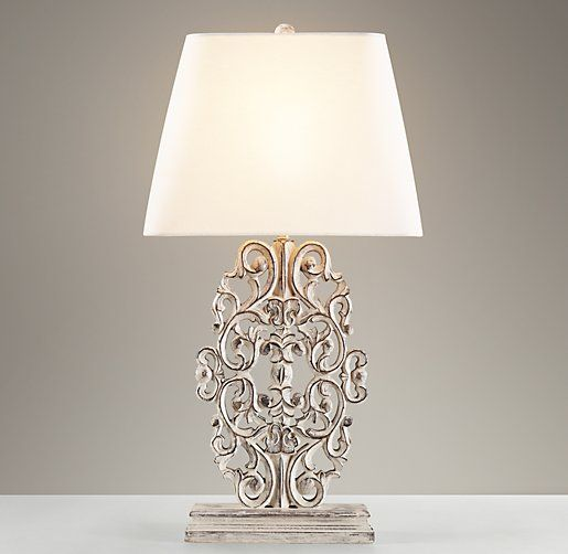 Scrollwork table lamp table restoration hardware baby - Restoration hardware lamps table ...