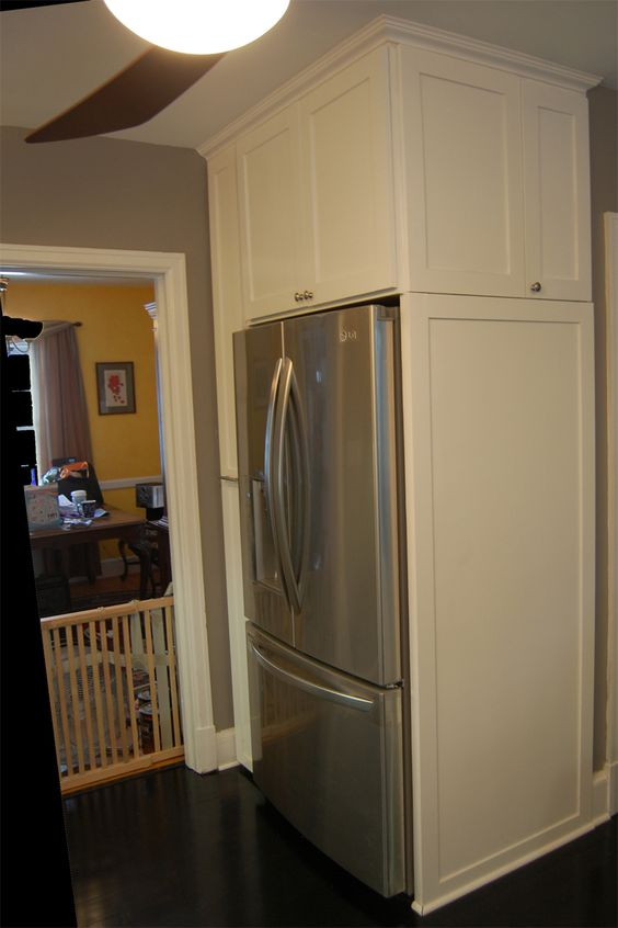 Phenomenal Refrigerators For Cabinets Cabinets Utilize Every Inch Of Largest Home Design Picture Inspirations Pitcheantrous