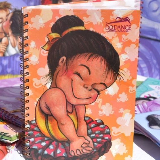 Caderno Dina Nina 1x1 - Do Dance