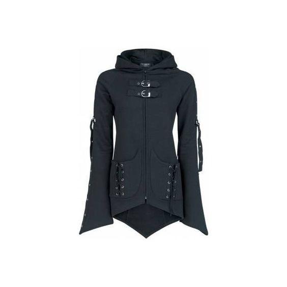 VX HOOD   GIRL-KAPUZENJACKE [FARBE: SCHWARZ]   GIRL-KAPUZENJACKE   Kapuzenpullover & -Jacken   100% Baumwolle   EMP Merchandising ::: The Heavy Metal Mailorder ::: Merchandise Shirts and More found on Polyvore