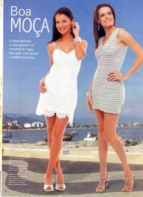 Inspirações de Croche com Any Lucy: Vestido Branco