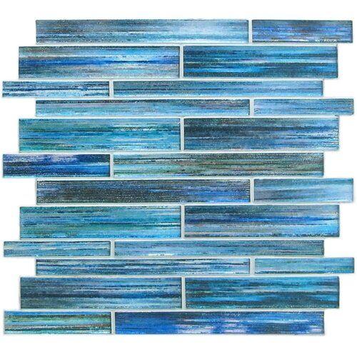 Cordelio Cordelio Loire Random Sized Glass Mosaic Tile In Blue Wayfair Blue Tile Backsplash Mosaic Tiles Glass Mosaic Tiles