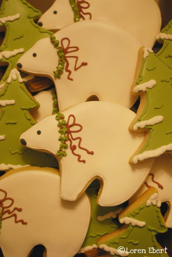 The Baking Sheet: Polar Bears & Snowy Tree Cookies