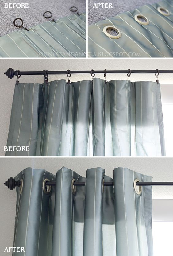 Curtains Ideas curtain grommets diy : DIY Curtain Grommets...easy, and look nicer than the clips ...