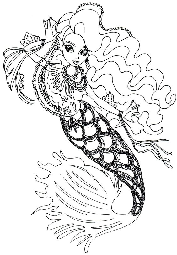 monster high free printables free printable monster high coloring page for sirena von boo in her