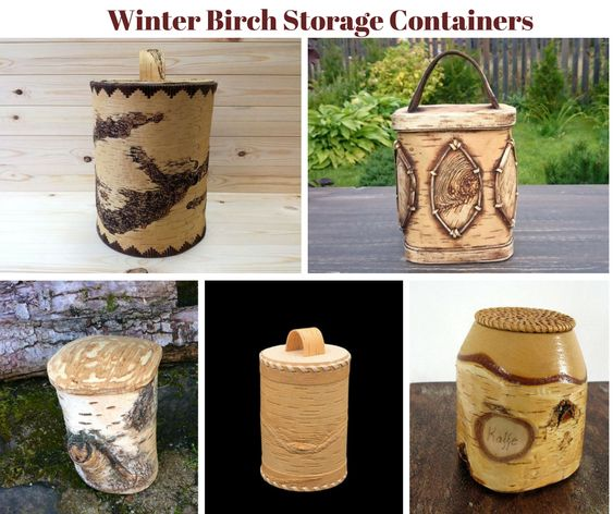 Winter Birch Storage Containers