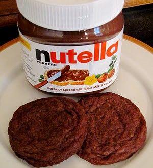 cookies, nutella, Nutella cookies! YUM