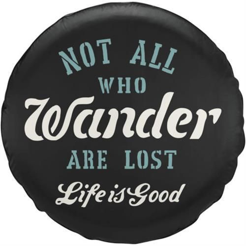 Life Is Good - Not All Who Wander Spare Tire Cover | 4WheelParts.com